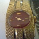 VINTAGE BURGUNDY DIAL LADIES SEIKO 17 JEWEL WATCH RUNS