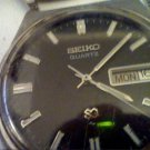 VINTAGE BLACK DIAL SEIKO 7123 DAY DATE WATCH 4U2FIX