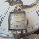 RARE VINTAGE 14KT WHT GOLD LADIES MOVADO SQUARE WATCH