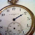 VINTAGE OPEN FACE ELGIN POCKET WATCH 4U2FIX BALANCE