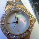 STONED BEZEL SMALL BAND JAZ LADIES QUARTZ WATCH RUNS