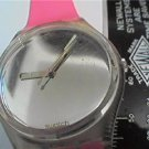 UNUSUAL VINTAGE 1987 MIRROR DIAL SWATCH WATCH RUNS