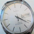 UNIQUE SEARS DAY DATE 7J AUTO WATCH RUNS