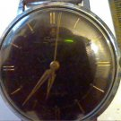 UNUSUAL VINTAGE BLACK DIAL 17 JEWEL SANDOZ WATCH RUNS
