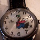 VINTAGE BACKWARD TIME GOOFY DISNEY QUARTZ WATCH RUNS