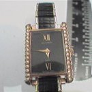 UNUSUAL 1991 BULOVA BLACK DIAL LADIES ACCUTRON WATCH