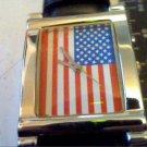 UNUSUAL SQUARE USA AMERICAN FREEDOM FLAG WATCH RUNS