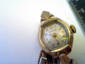 UNUSUAL STIFF BAND LADIES WITTNAUER COCKTAIL WATCH RUNS