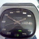 VINTAGE 25 JEWEL CLINTON AUTO DDATE WATCH RUNS 4U2FIX