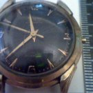 RARE BLACK SUNBURST DIAL AVALON AUTO WATCH RUNS 4U2FIX