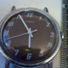 VINTAGE DARK BROWNISH DIAL WHITE HAND TIMEX WATCH RUNS 4U2FIX LUG