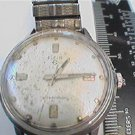 VINTAGE WATERPROOF ELGIN ALL STEEL CASE WATCH RUNS