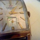VINTAGE SQUARE WALTHAM 17JEWL SUB SEC DIAL WATCH 4U2FIX