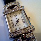 BEAUTIFUL STONED BEZEL SQUARE AVON LADIES JAPAN QUARTZ