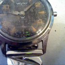 VINTAGE SUB SECONDS BLACK DIAL WYLER WATCH RUNS 4U2FIX