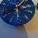 VINTAGE BLUE 12-24HR DIAL CLINTON MOVEMENT DAYDATE 4FIX