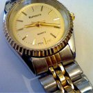 PLAIN TWO TONE LADIES RUMOURS JAPAN QUARTZ WATCH RUNS