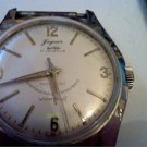 VINTAGE JAGUAR EVERBRITE 17J ALL STEEL CASE WATCH RUNS