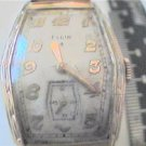 rare vintage 15 jewel elgin square watch runs
