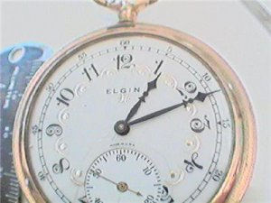 UNUSUAL DIAL VINTAGE ELGIN HUNTER POCKET WATCH 4U2FIX