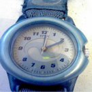 UNUSUAL BLUE BAND LADIES TIMEX QUARTZ WATCH RUNS