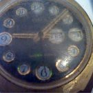 VINTAGE TELEPHONE DIAL DAY DATE TIMEX WATCH RUNS 4U2FIX