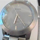 BIG FOSSIL STEEL GREY DIAL FOSSIL QUARTZ WATCH RUNS