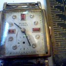 VINTAGE STONED DIAL RIMA SQUARE 17 JEWEL WATCH 4U2FIX
