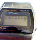 VINTAGE TEXAS INSTRUMENTS LCD ALARM CHRONO WATCH PARTIALLY RUNS 4U2FIX