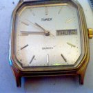 VINTAGE WR SQUARE TIMEX DAY DATE QUARTZ WATCH RUNS