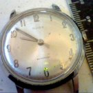 VINTAGE 1966 TIMEX WINDUP CHROME PLATED WATCH RUNS