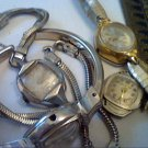LOT OF 4 COCKTAIL LADY ELGIN GRUEN BULOVA WATCH 4U2FIX