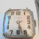 SQUARE HAMILTON WHITE GOLD FILLED 986A 17J WATCH RUNS
