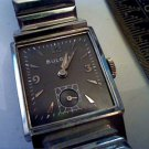 VINTAGE 1951 10KWGF SQUARE 21J BULOVA WATCH RUNS 4U2FIX