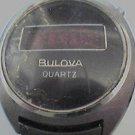VINTAGE 1976 BULOVA QUARTZ RED LED STEEL WATCH 4U2FIX