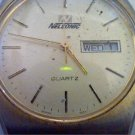 VINTAGE NELSONIC DAY DATE JAPAN MOVMT QUARTZ WATCH RUNS