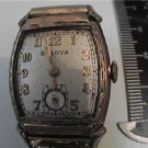 VINTAGE BULOVA SQUARE DECO WATCH RUNS NEED GLASS 4U2FIX