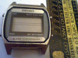 VINTAGE SEIKO A904-5000 LCD ALARM CHRONO WATCH RUNS