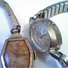 LOT OF 2 LADIES ELGIN WYLER COCKTAIL WATCHES 4U2FIX