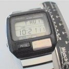 RARE VINTAGE SEIKO PULSE METER ALARM CHRONO LCD WATCH