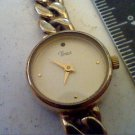 CUTE YELLOW LINK CHAINED TIMEX LADIES QUARTZ WATCH RUNS