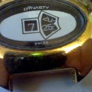 BIG YELLOW CASE DYNASY JUMP HOUR WINDUP WATCH 4U2FIX