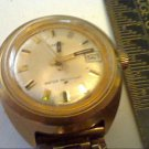 VINTAGE THICK LADIES TIMEX DATE WIND WATCH RUNS 4U2FIX