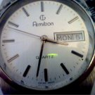 RARE VINTAGE SWISS QUARTZ ARMITRON DAY DATE WATCH RUNS