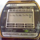 VINTAGE TMEX WORLDTIMER LCD ALARM WATCH RUNS 4U2FIX