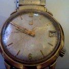 1970 14KGF BULOVA ACCUTRON DATE WATCH RUNS 4U2FIX DIAL