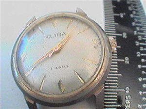 UNUSUAL ELTRA NAME 17 JEWEL VINTAGE WATCH RUNS