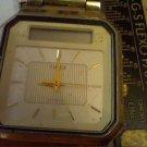 VINTAGE DUAL LCD ANALOG TIMEX CHRONO ALARM WATCH RUNS