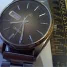 VINTAGE SEIKO 7546 QUARTZ DAY DATE WATCH RUNS 4U2FIX
