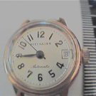 VINTAGE YELL WITTNAUER AUTOMATIC DATE LADIES WATCH RUNS